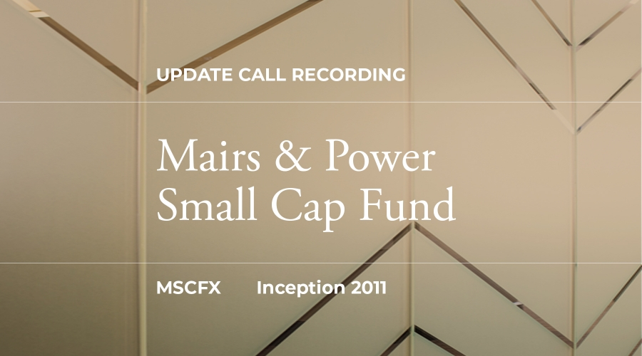 Q3 2019 Small Cap Fund Update Call Recording